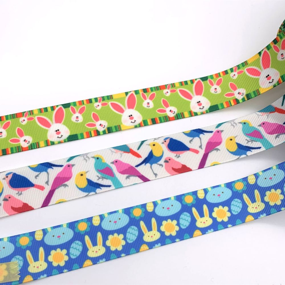 Spring & Easter Themed Grosgrain Ribbons