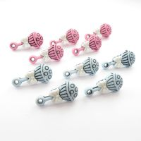 Baby Pink and Baby Blue Rattle Shank Buttons