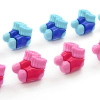 Baby blue and Baby pink bootee buttons