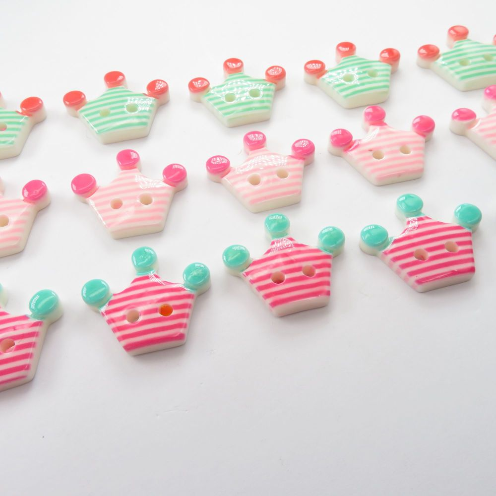 Princess / Prince Crown Shaped Buttons