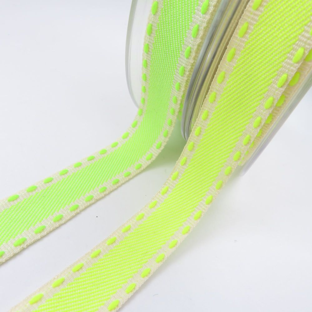 Berisford's Neon Stitch 15mm Ribbon