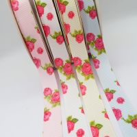 Chintzy Rose Print Grosgrain Ribbon - 4 colours