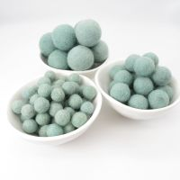 100% Wool Felt Balls - Duck Egg