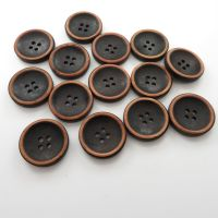 Solid Rim Design Wooden Buttons - 23mm