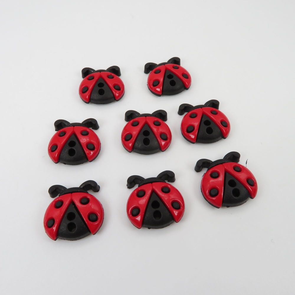 Dress It Up Button Pack - Sew Cute LadyBugs