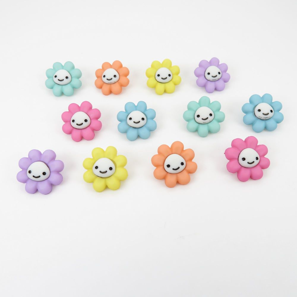 Dress It Up Button Pack - Happy Little Flowers