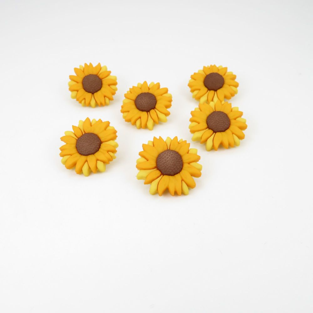 Dress It Up Button Pack - Sunflowers