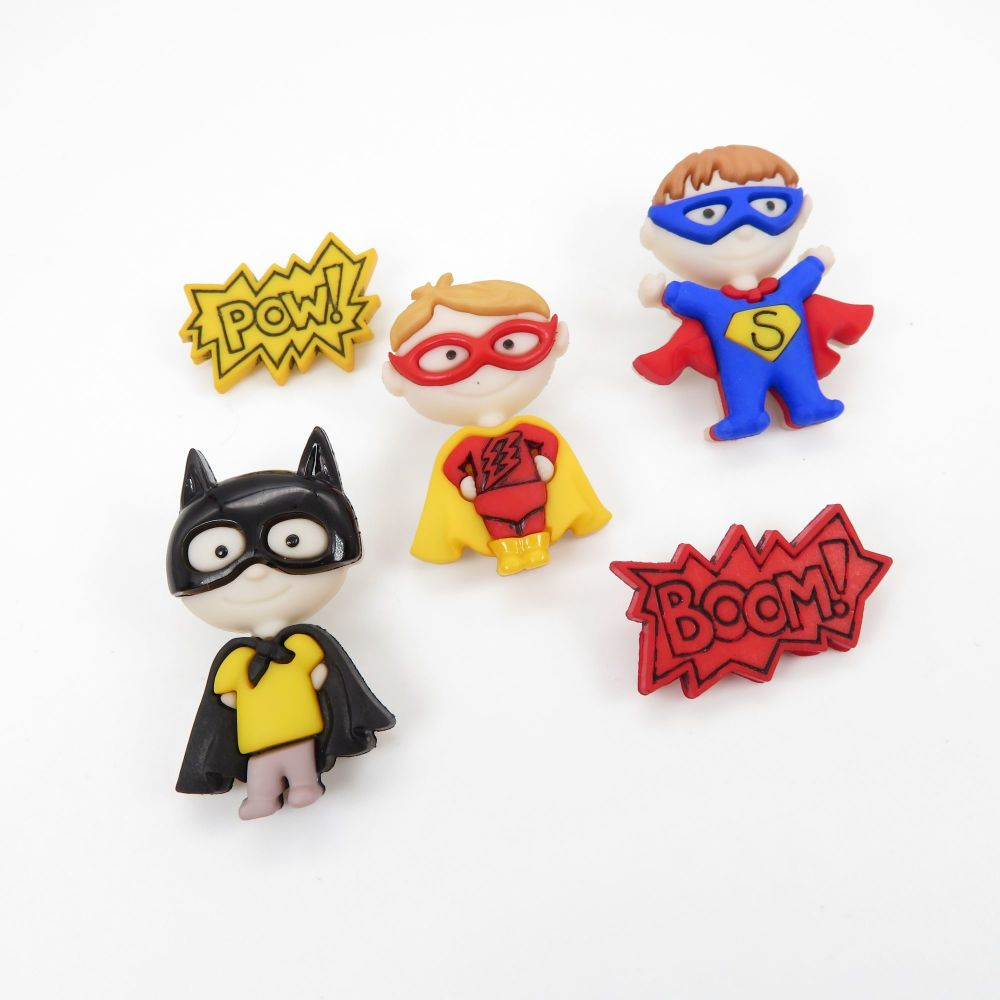 Dress It Up Button Pack - Be My Super Hero
