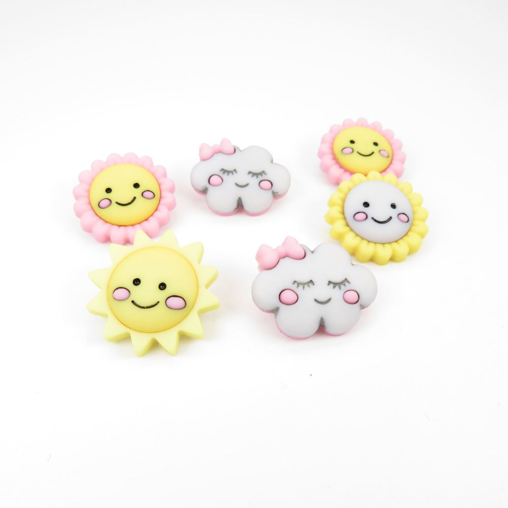 Dress It Up Button Pack - Hello Sunshine