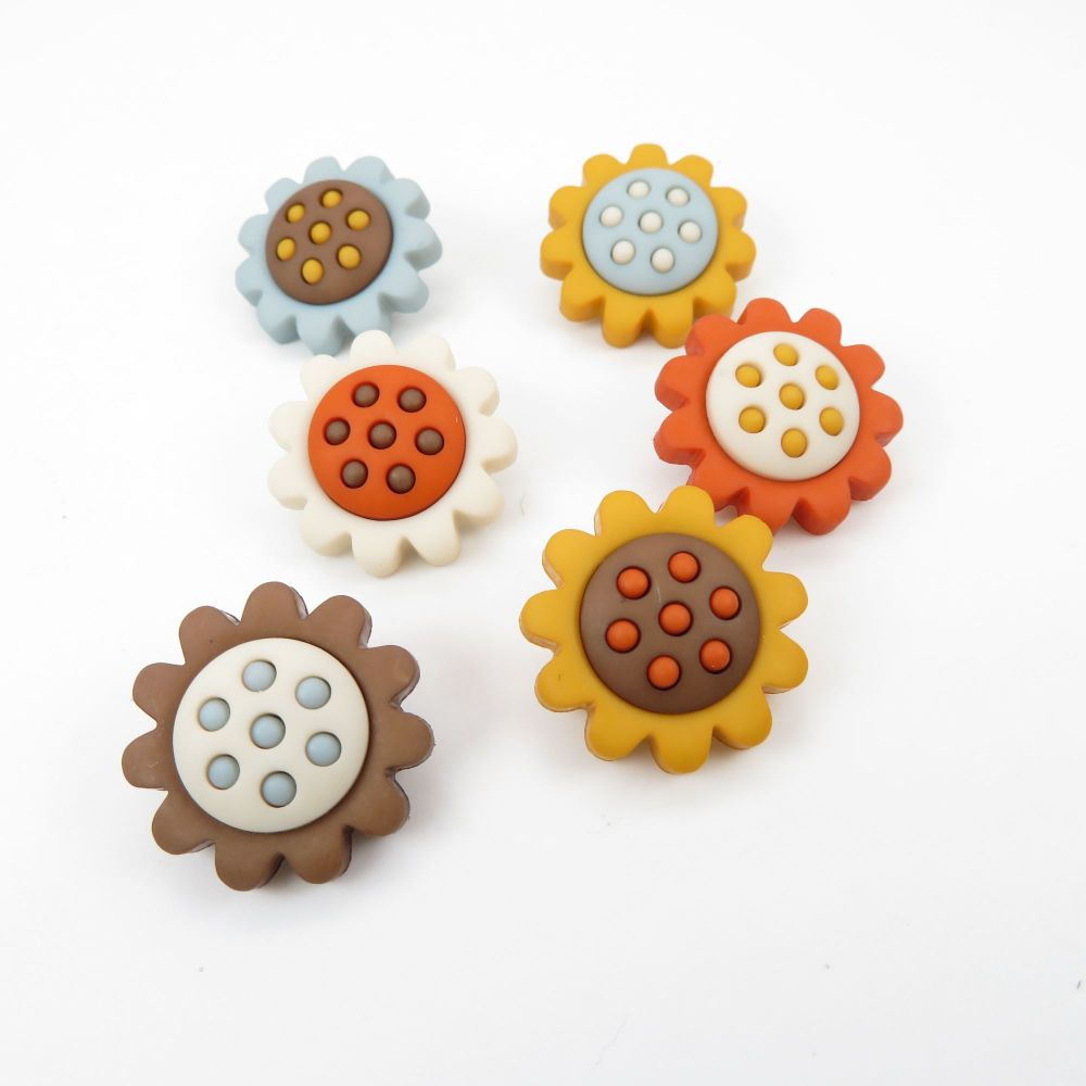 Dress It Up Button Pack - Harvest Blooms