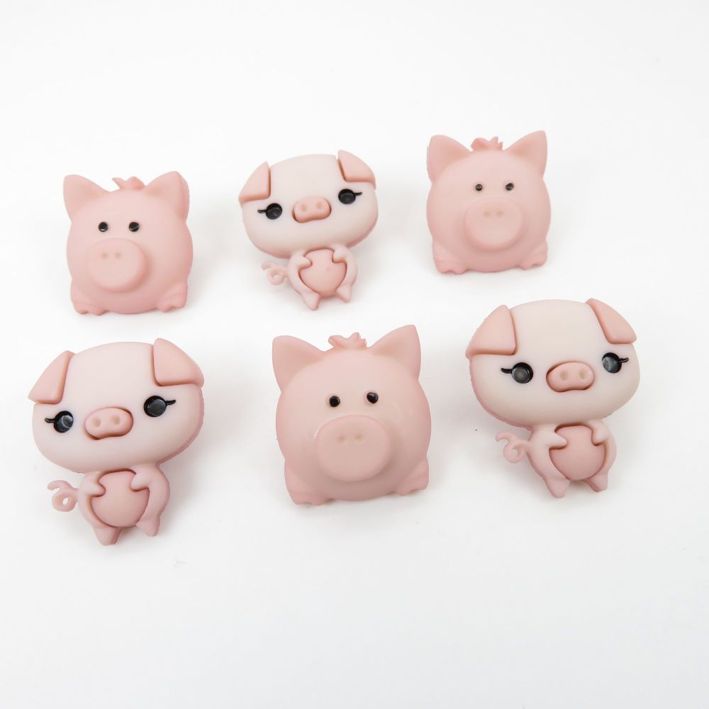 Dress It Up Button Pack - Pig Pen