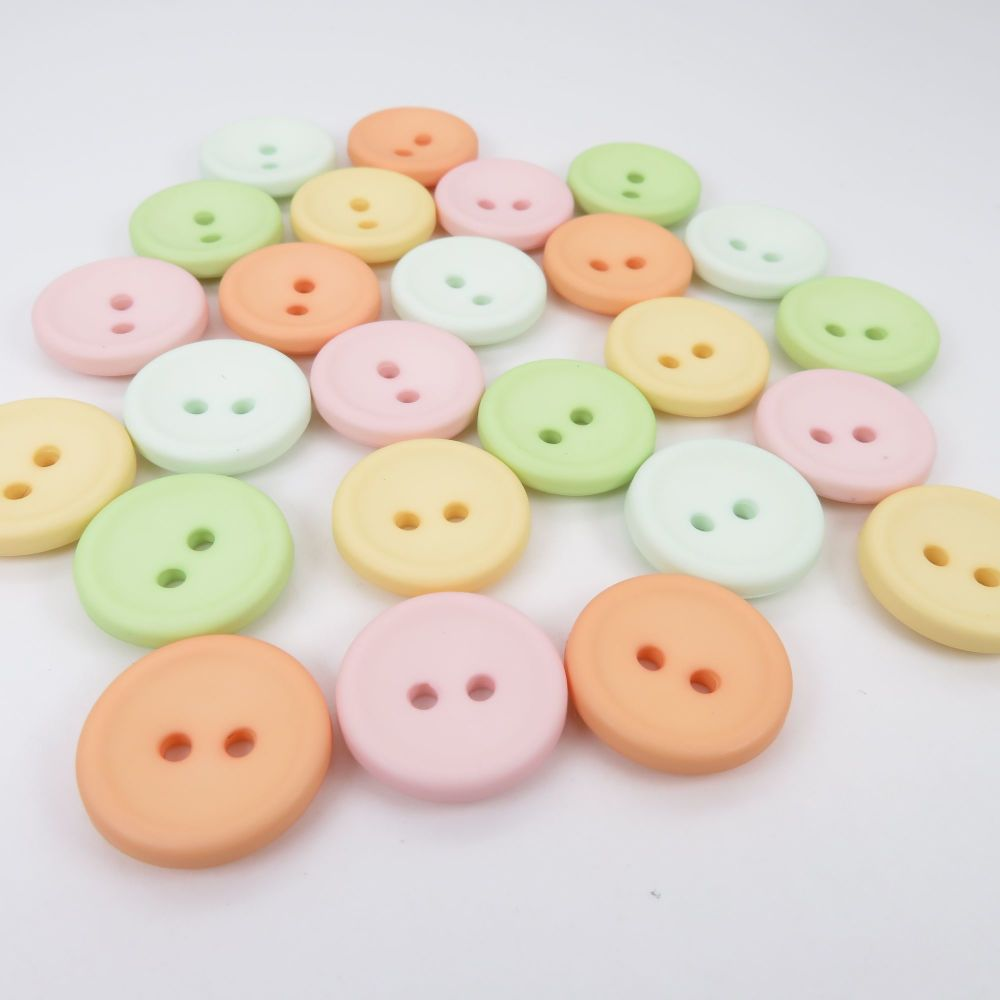 18mm Matte Concave Button Collection - Citrus Pastels