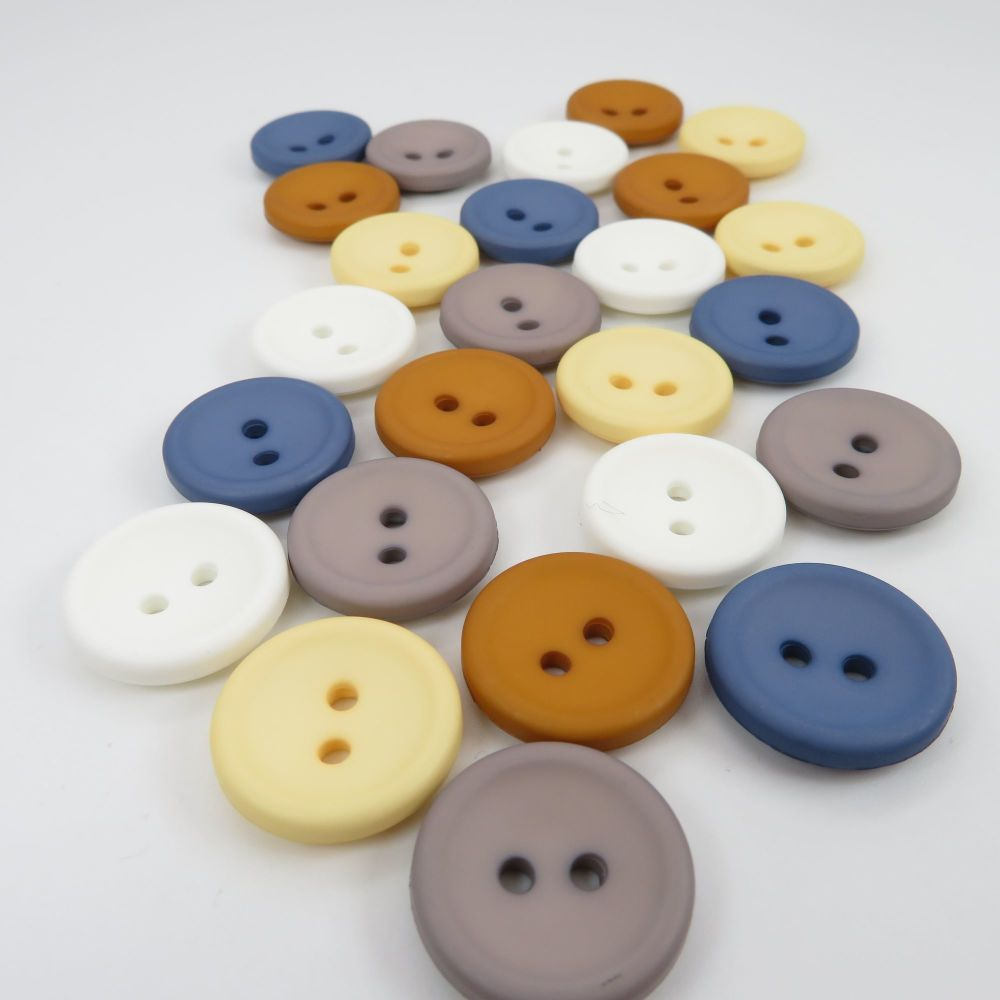 18mm Matte Concave Button Collection - Coast