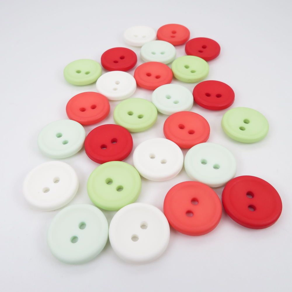 18mm Matte Concave Button Collection - Watermelon
