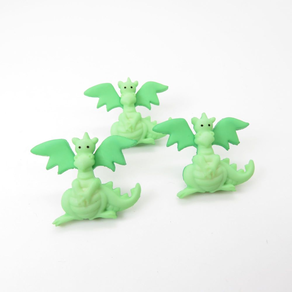 Dress It Up Button Pack - Green Dragons