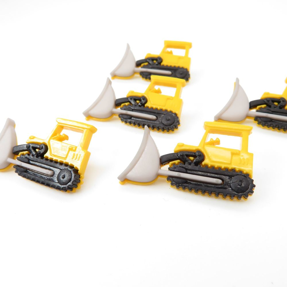 Dress It Up Button Pack - Bulldozers