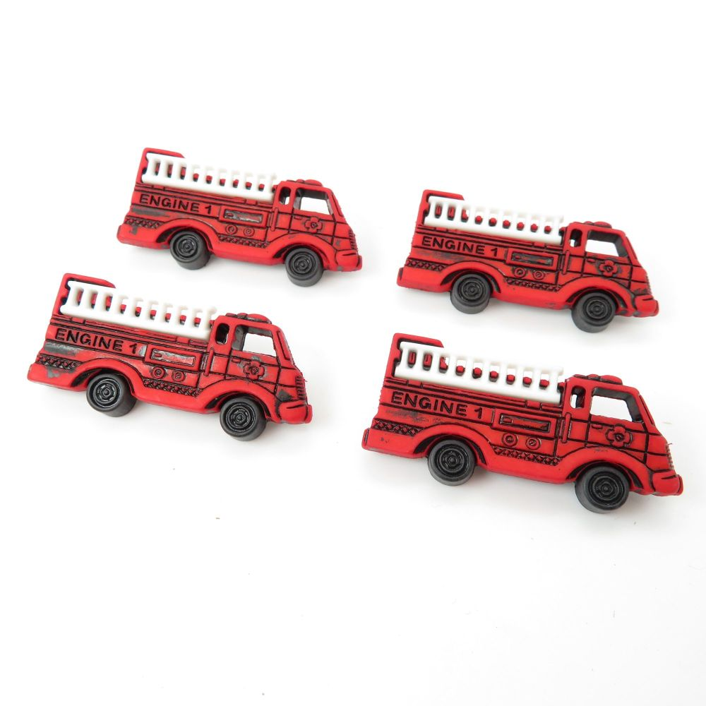 Dress It Up Button Pack - Fire Engines