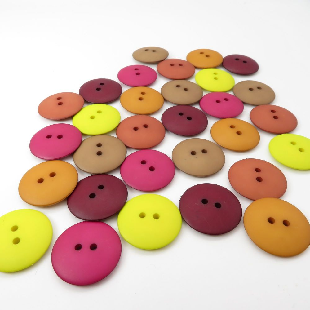 23mm Matte Button Collection - Mulberry & Lime Twist