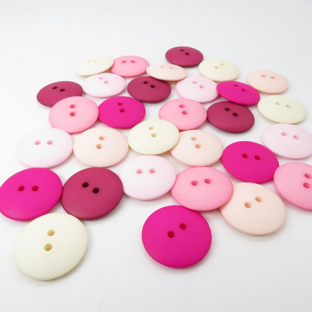 23mm Matte Button Collection - Pretty in Pink
