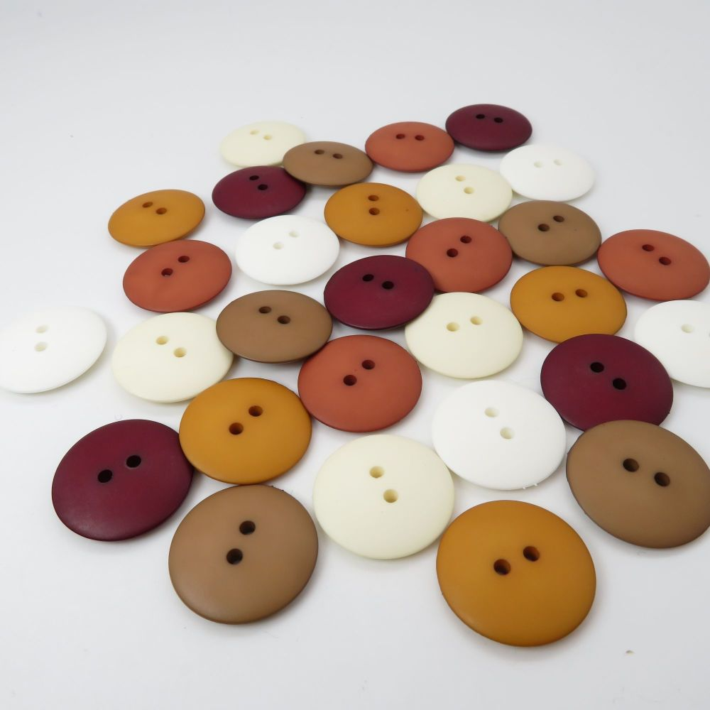 23mm Matte Button Collection - Earth Tones