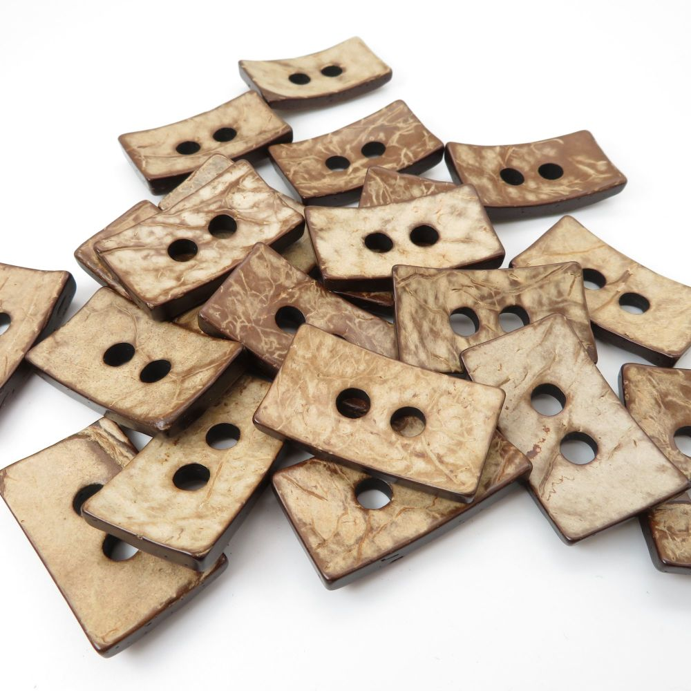 34mm Statement Rectangle Coconut Shell Buttons