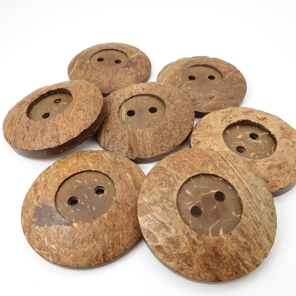 50mm Statement Coconut Rimmed Buttons