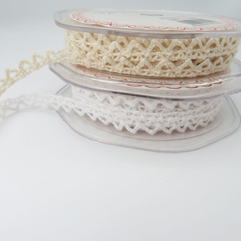 6mm Dainty Peaked Edge Cotton Lace