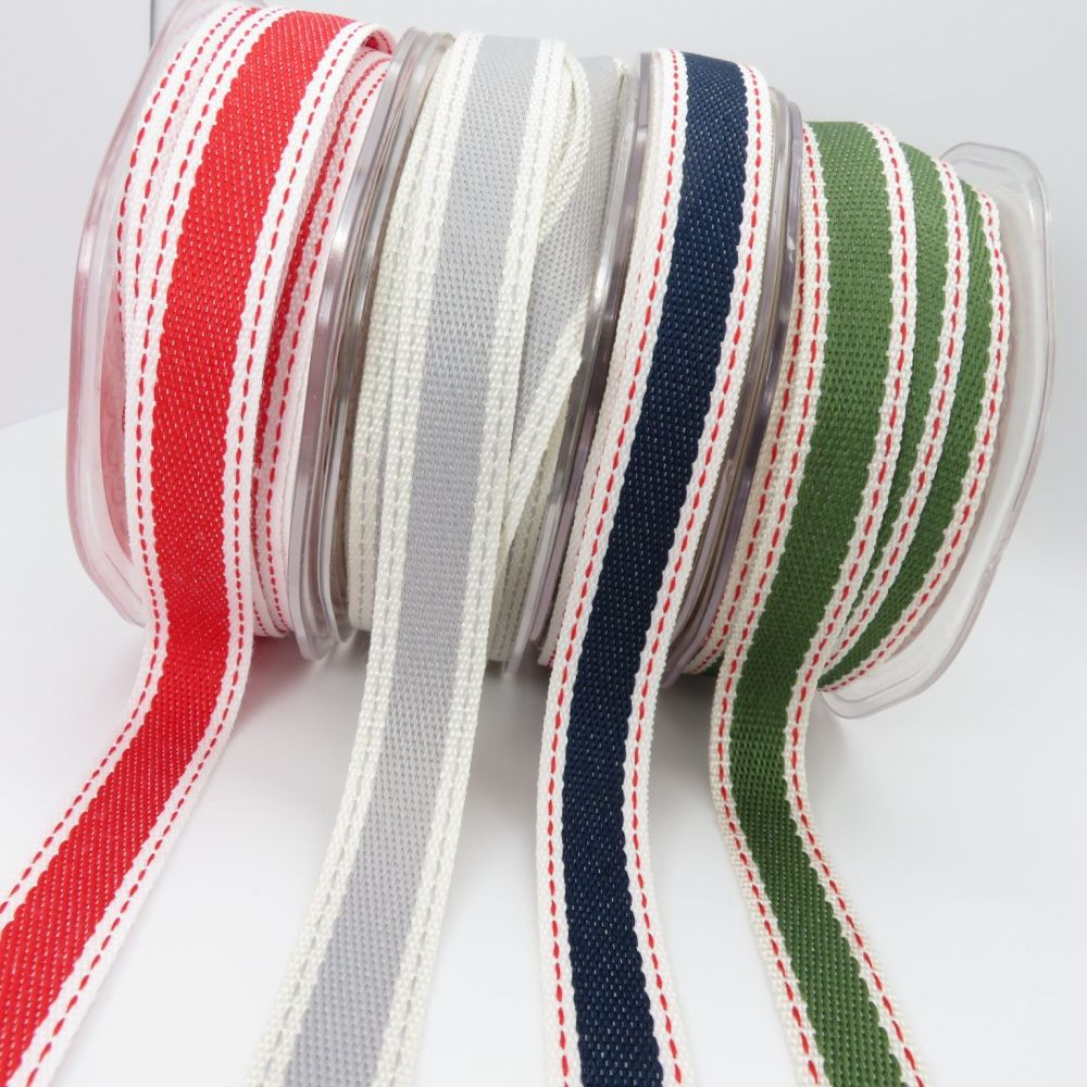 Bertie's Bows saddle stitch woven ribbons.
