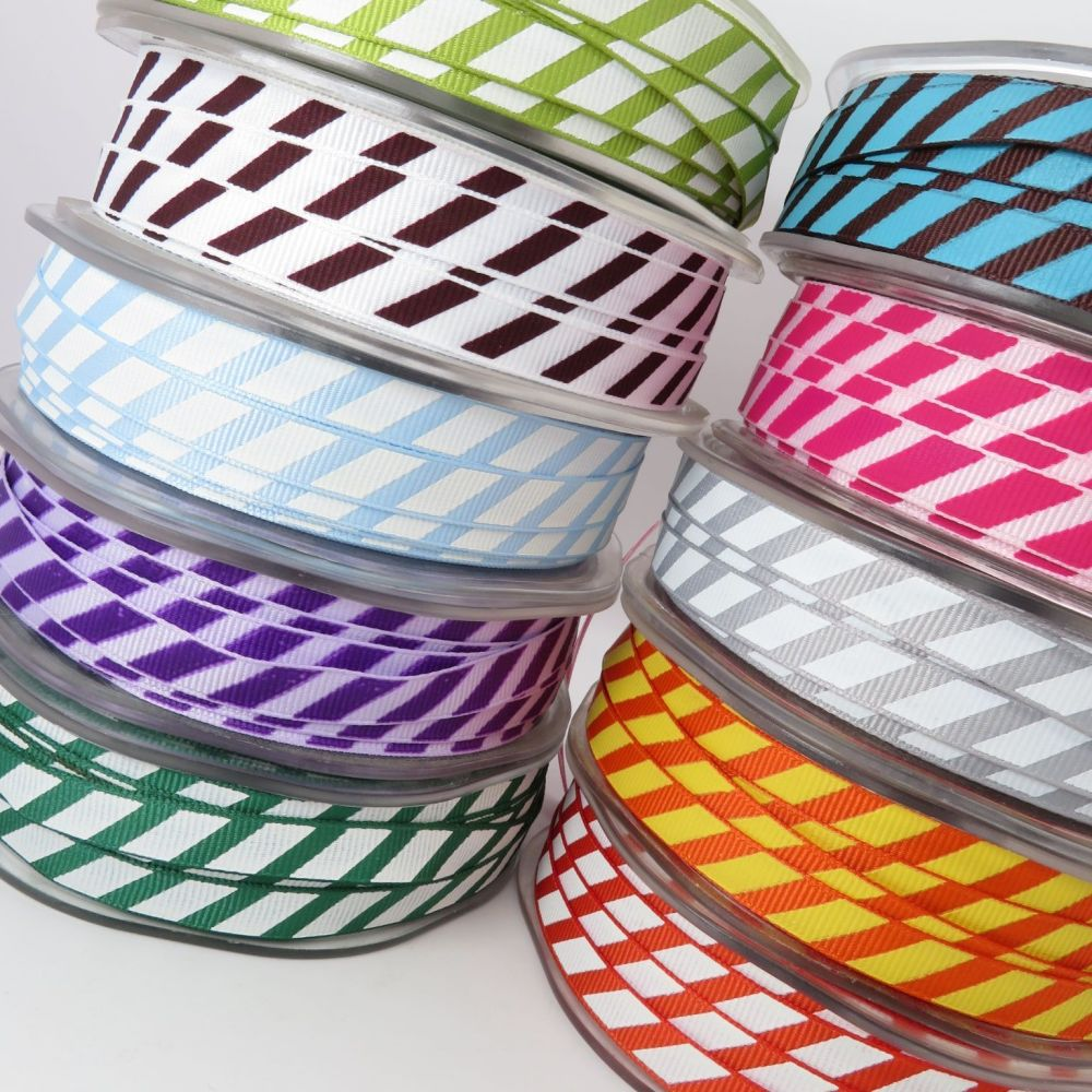 May Arts Diagonal Stripe Grosgrain Ribbons