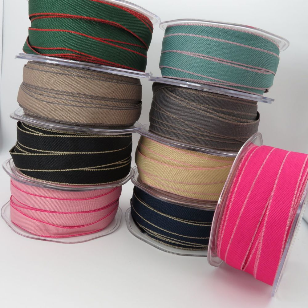 Bertie's Bows Solid Edge Woven Ribbons