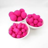100% Wool Felt Balls - Shocking Pink