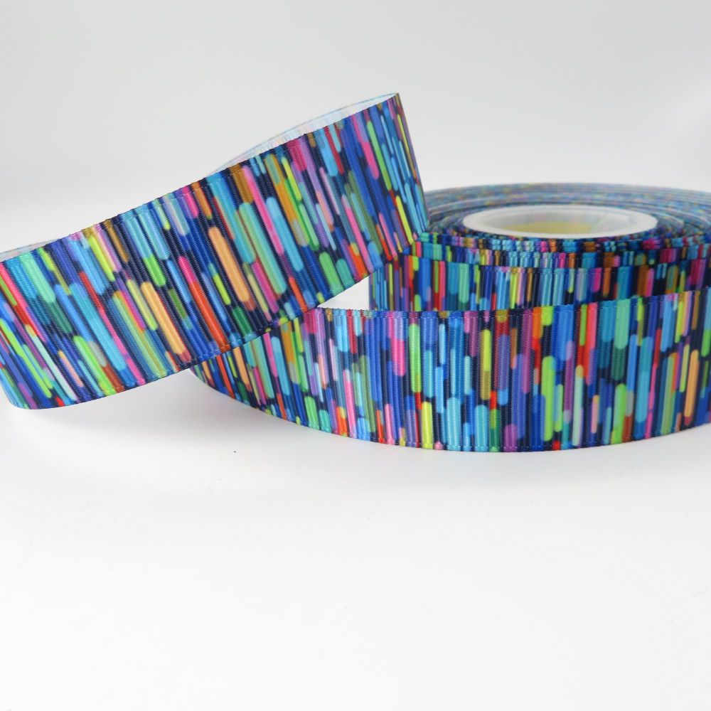 Artistic Abstract print grosgrain ribbon