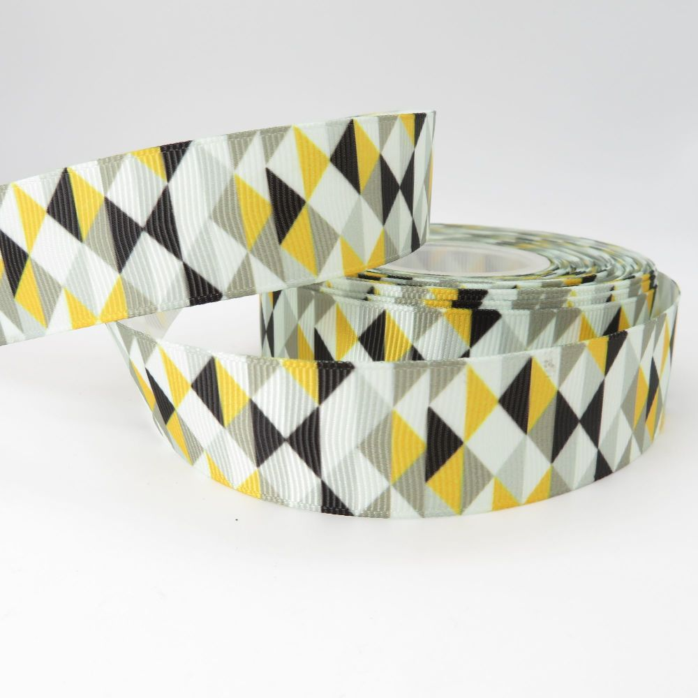 Geometric 2021 Colourway print grosgrain ribbon