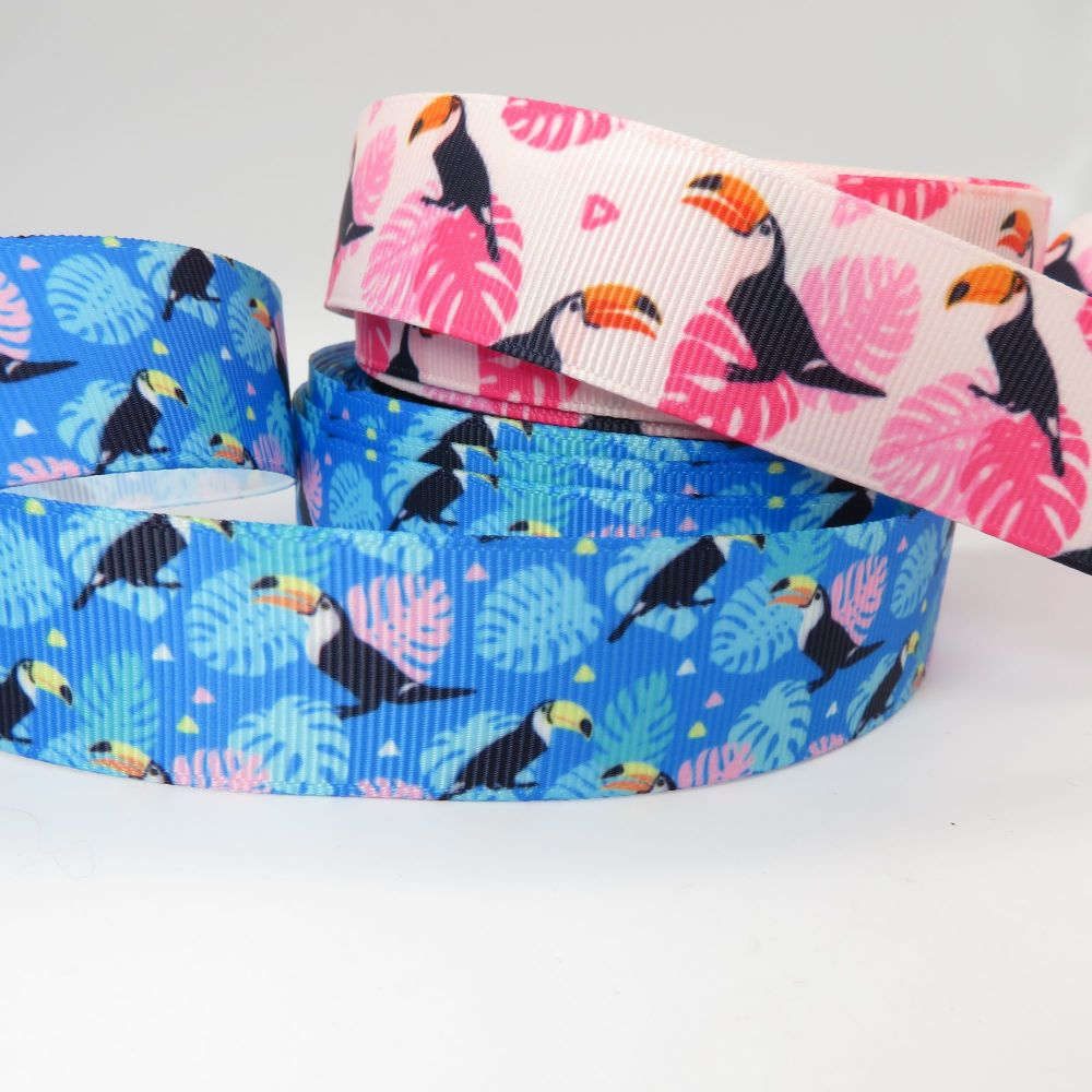 Tropical Toucan Grosgrain Ribbons