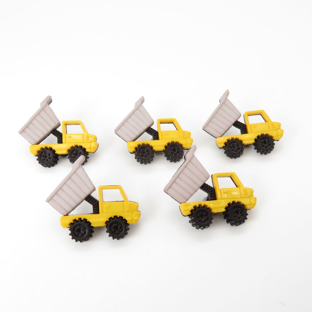 Dress It Up Button Pack - Dumper Trucks