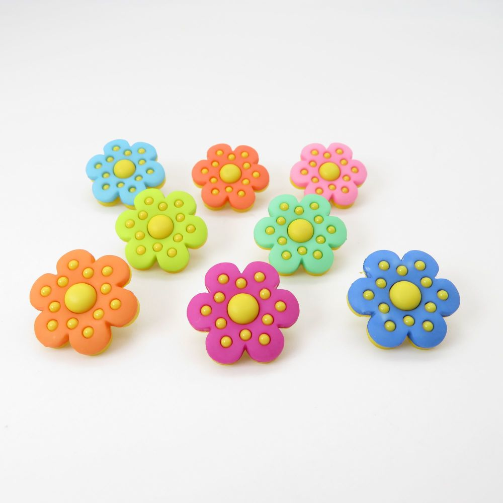 Dress It Up Button Pack - Polka Dot Flowers