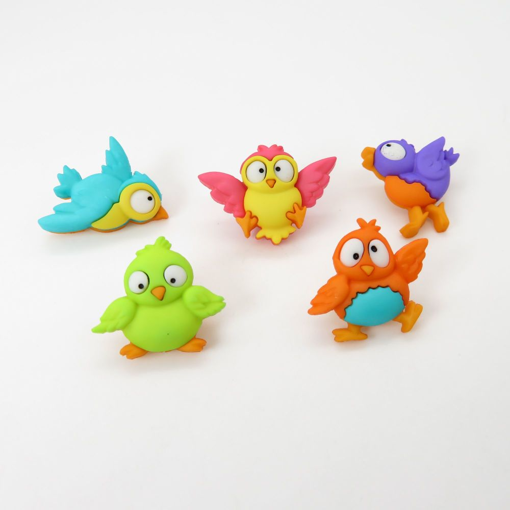 Dress It Up Button Pack - Bird Brain
