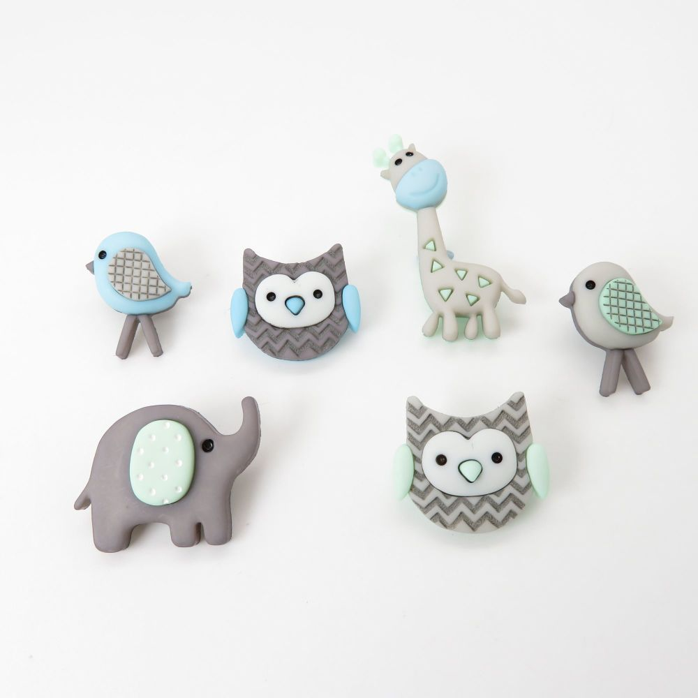 Dress It Up Button Pack - Jungle Baby