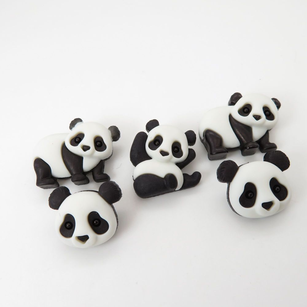 Dress It Up Button Pack - Panda Pile