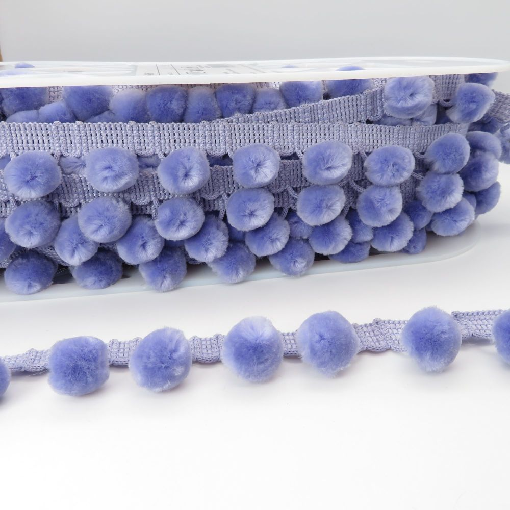 Luxury Simplicity Pom Pom Trimming - Violet - Sold Per Metre