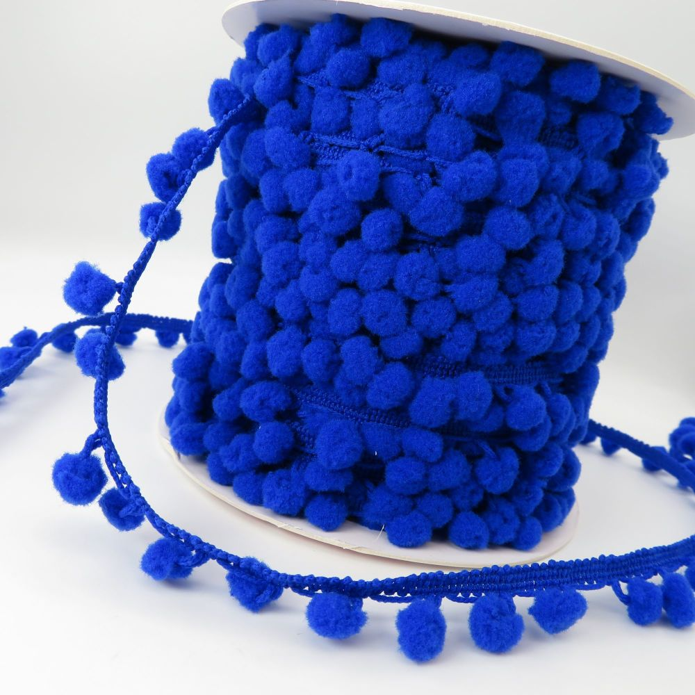 Bertie's Bows 10mm Pom Pom Trim - Royal Blue