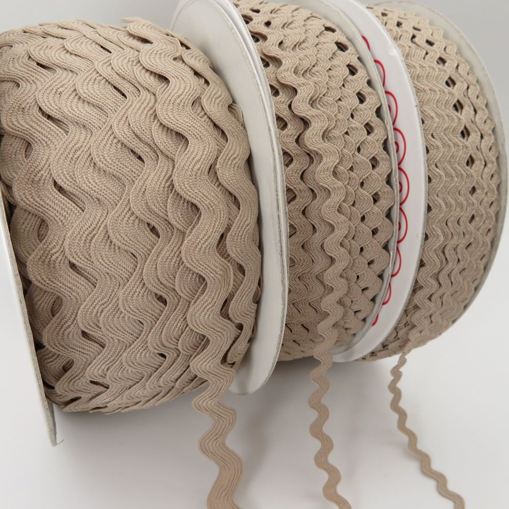 Bertie's Bows Ric Rac Ribbons - Natural - 3 Sizes