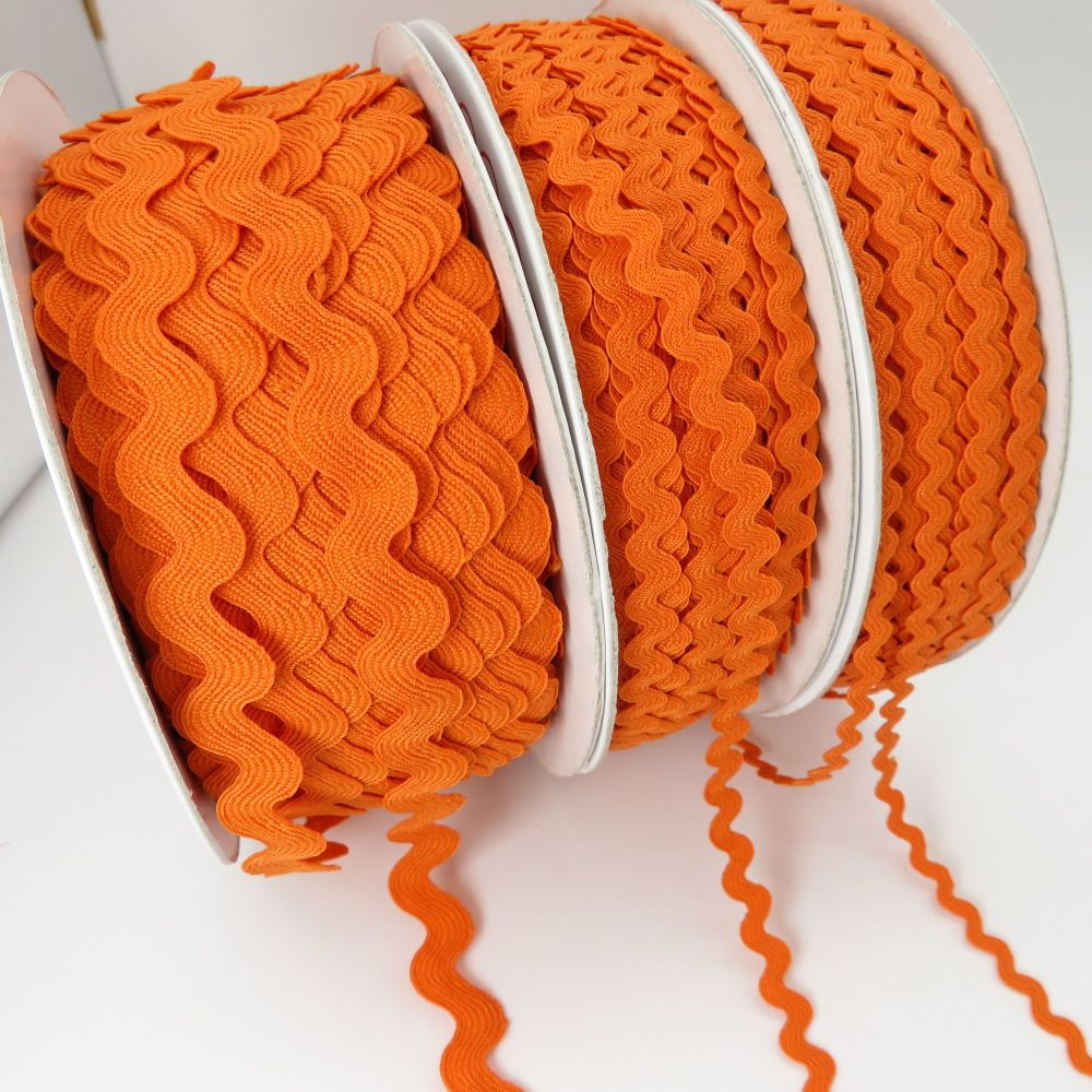 Bertie's Bows Ric Rac Ribbons - Orange - 3 Sizes