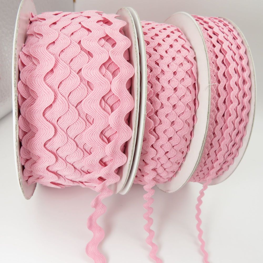 Bertie's Bows Ric Rac Ribbons - Pale Pink - 3 Sizes