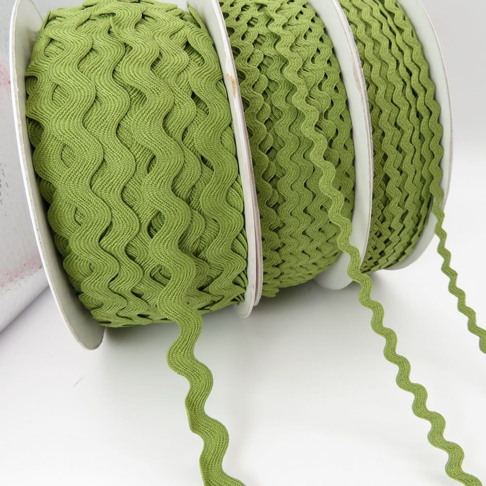 Bertie's Bows Ric Rac Ribbons - Olive - 3 Sizes