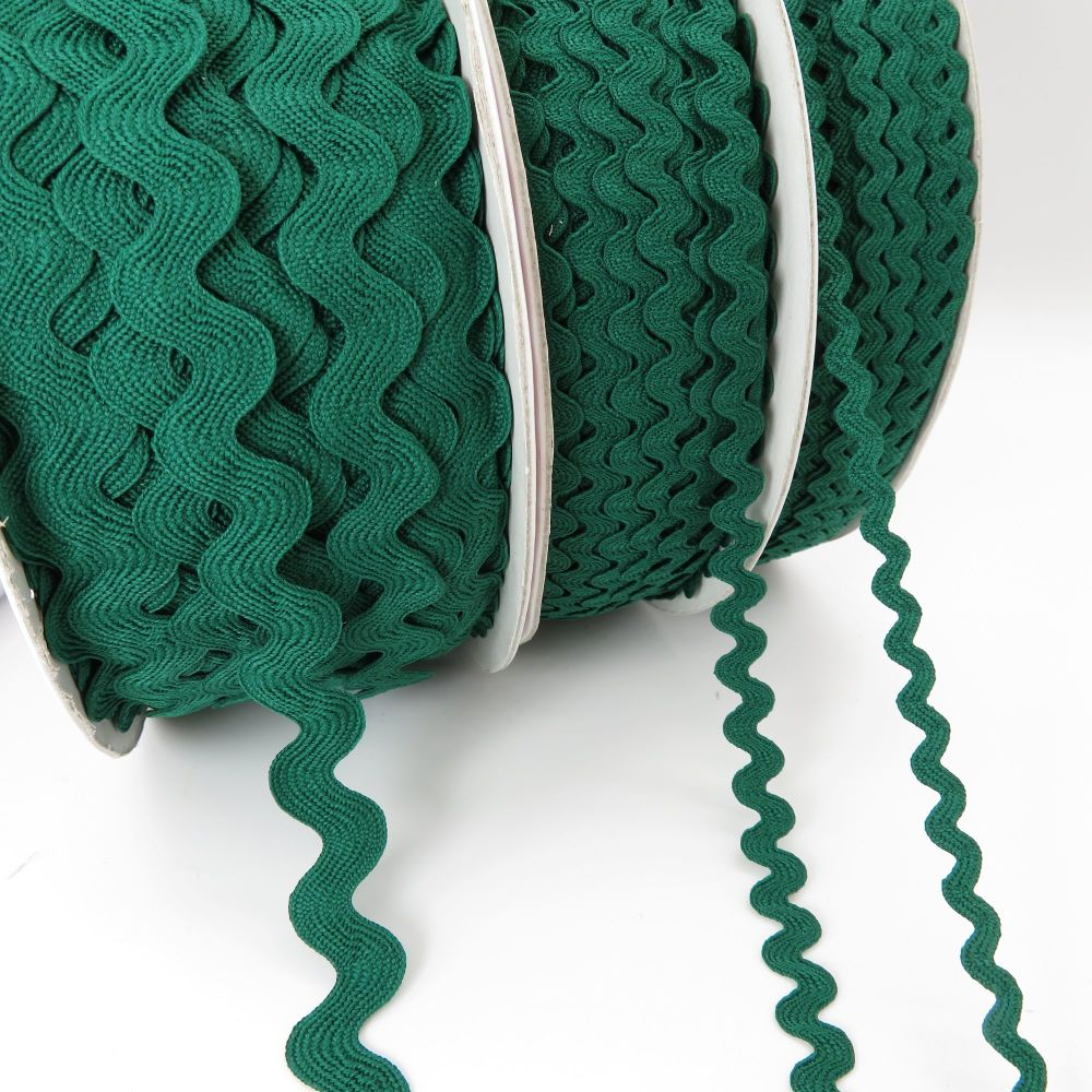 Bertie's Bows Ric Rac Ribbons - Forest - 3 Sizes