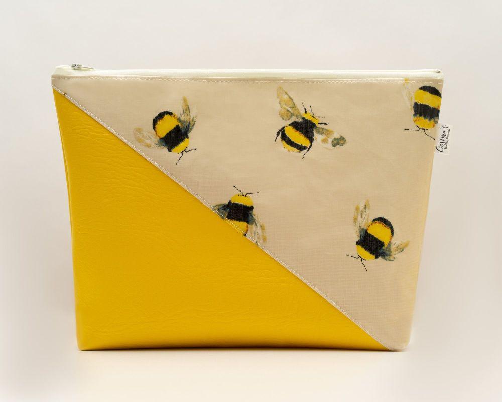 Honey Bee Large Cosmetic Bag