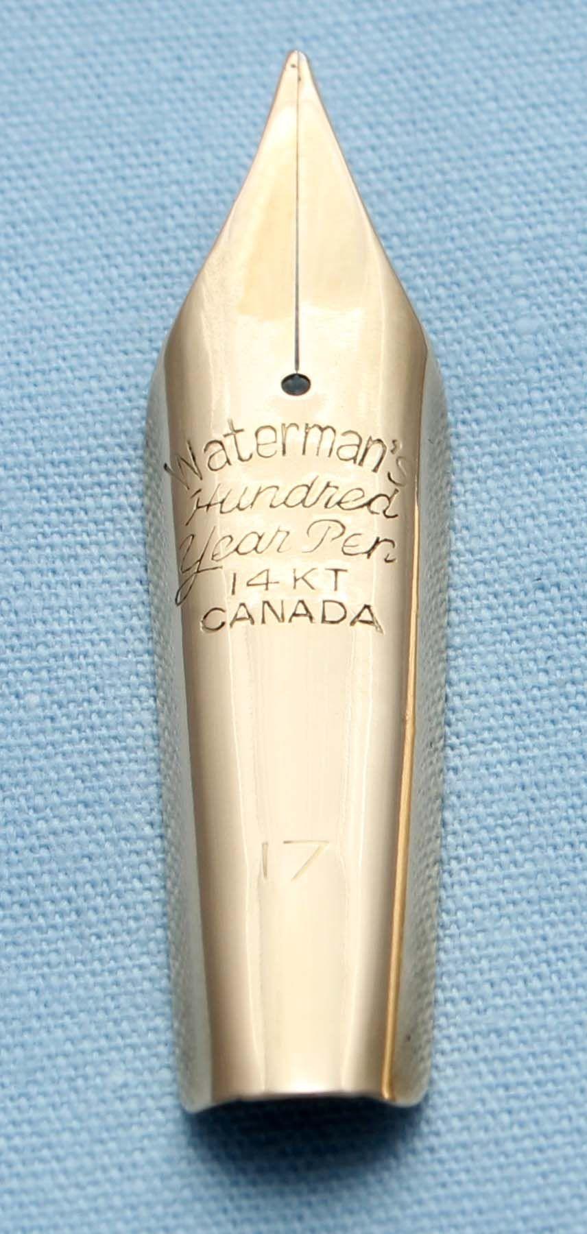 N494  - Waterman 100 Year #17 Medium Flex Nib