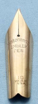 N502  - Waterman Emblem No.18 Medium Nib