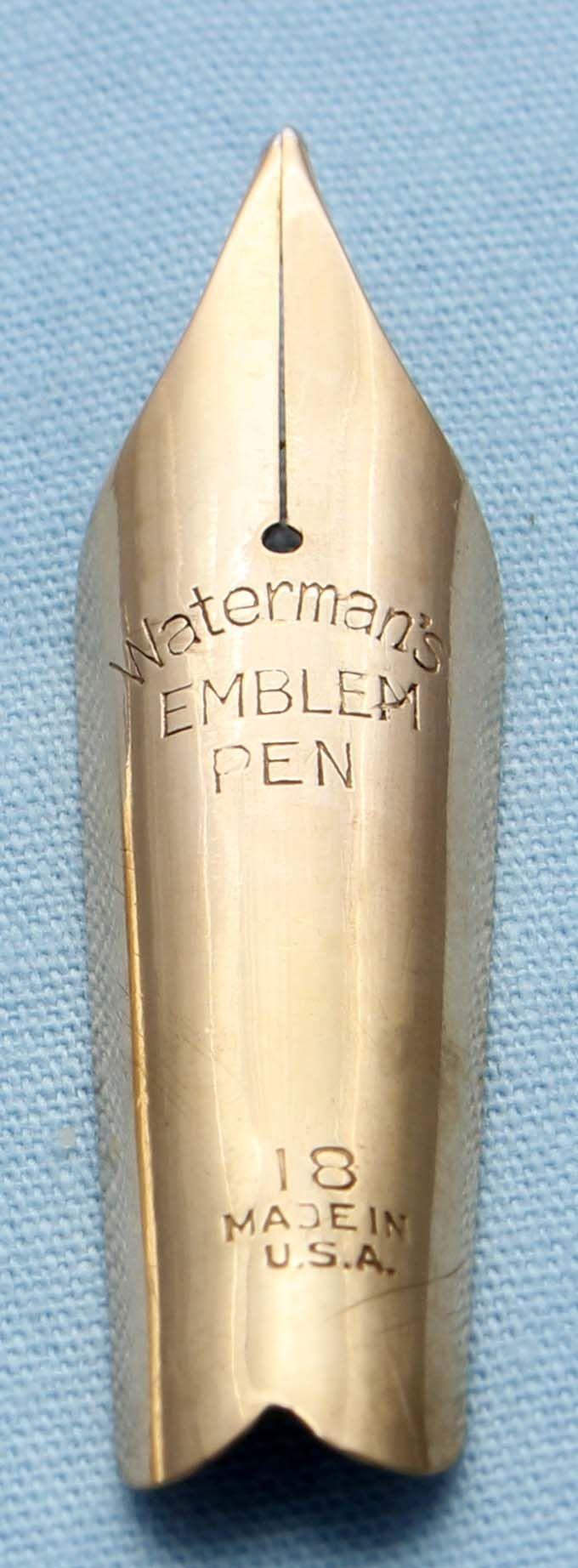 N502  - Waterman Emblem No.18 Medium Nib